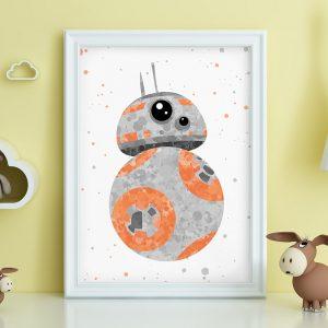 BB8 Droid Star Wars - Nursery Wall Decor