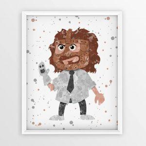 Mankind Mick Foley WWE - Nursery Wall Decor