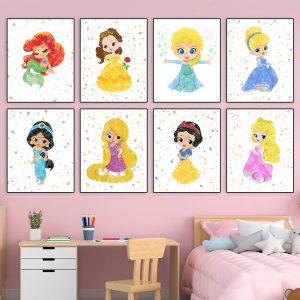 Disney Princess 8 Set - Nursery Wall Decor
