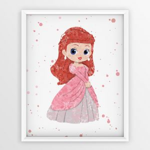 Ariel on Dress - Nursery Wall Decor