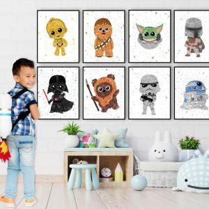 Star Wars 8 Set - Nursery Wall Decor