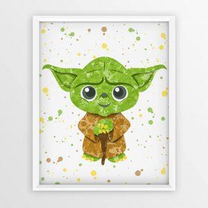 Yoda Star Wars - Nursery Wall Decor