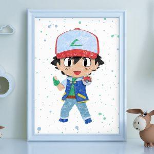 Ash from Pokemon - Nursery Wall Decor