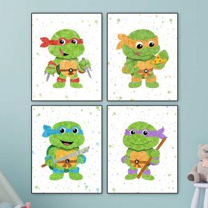 Ninja Turtles 4 Set - Nursery Wall Decor