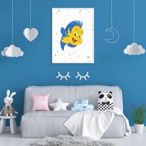Ariel, Sebastian, Flounder, 3 Set - Wall Decor