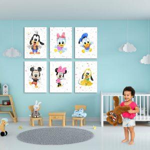 Disney Characters 6 Set - Nursery Wall Decor