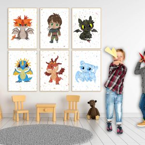 How to Train Your Dragon 6 Set - Wall Decor