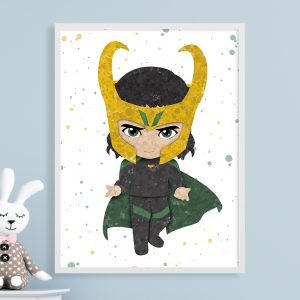 Loki Avengers - Nursery Wall Decor