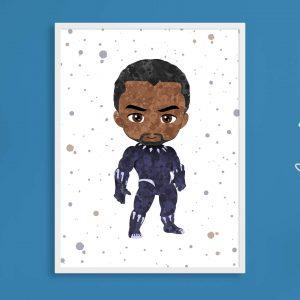 Chadwick Boseman Black Panther - Wall Decor
