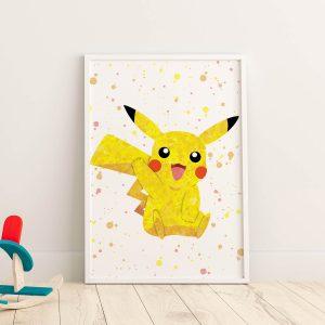 Pikachu Pokemon - Nursery Wall Decor