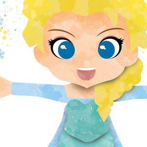 Elsa Frozen - Nursery Wall Decor