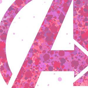 Avengers Emblem for Girl - Nursery Print