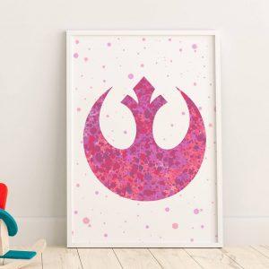 Star Wars Rebel Logo - Nursery Wall Decor