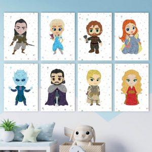 Game of Thrones - 8 Set, Wall Art Decor