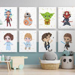 Star Wars 8 Set2 - Nursery Wall Decor
